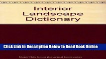 Download Interior Landscape Dictionary (Landscape Architecture)  Ebook Free