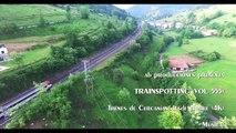 TRAINSPOTTING (VOL. 455). Trenes de Cercanías renfe desde el aire. (4K).