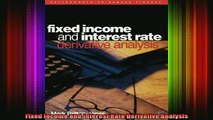 READ book  Fixed Income and Interest Rate Derivative Analysis Full EBook