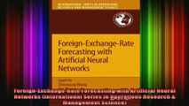READ book  ForeignExchangeRate Forecasting with Artificial Neural Networks International Series in Full EBook