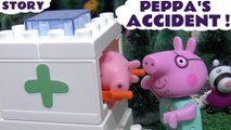 PEPPA'S ACCIDENT --- Peppa Pig goes to Hospital after an Accident! This toy story is a Hospital Construction Set Toy Review, just like Lego bricks with an Ambulance included, Featuring Thomas and Friends and many more family fun toys!