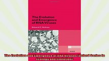 Free PDF Downlaod  The Evolution and Emergence of RNA Viruses Oxford Series in Ecology and Evolution  BOOK ONLINE
