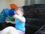Anya- 24 months. Мой веселый звонкий мяч.