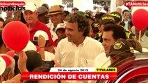 Titulares de Teleantioquia Noticias - lunes 24 de agosto de 2015