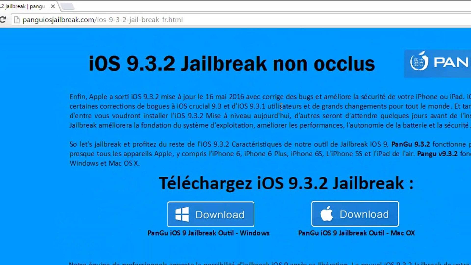 Download pangu iOS 9 3 2 jailbreak UNTETHERED for all iphones | iPods |  iPads