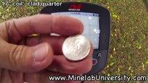 """Minelab CTX 3030 w/17"""" coil - Target ID's - clad quarter"""