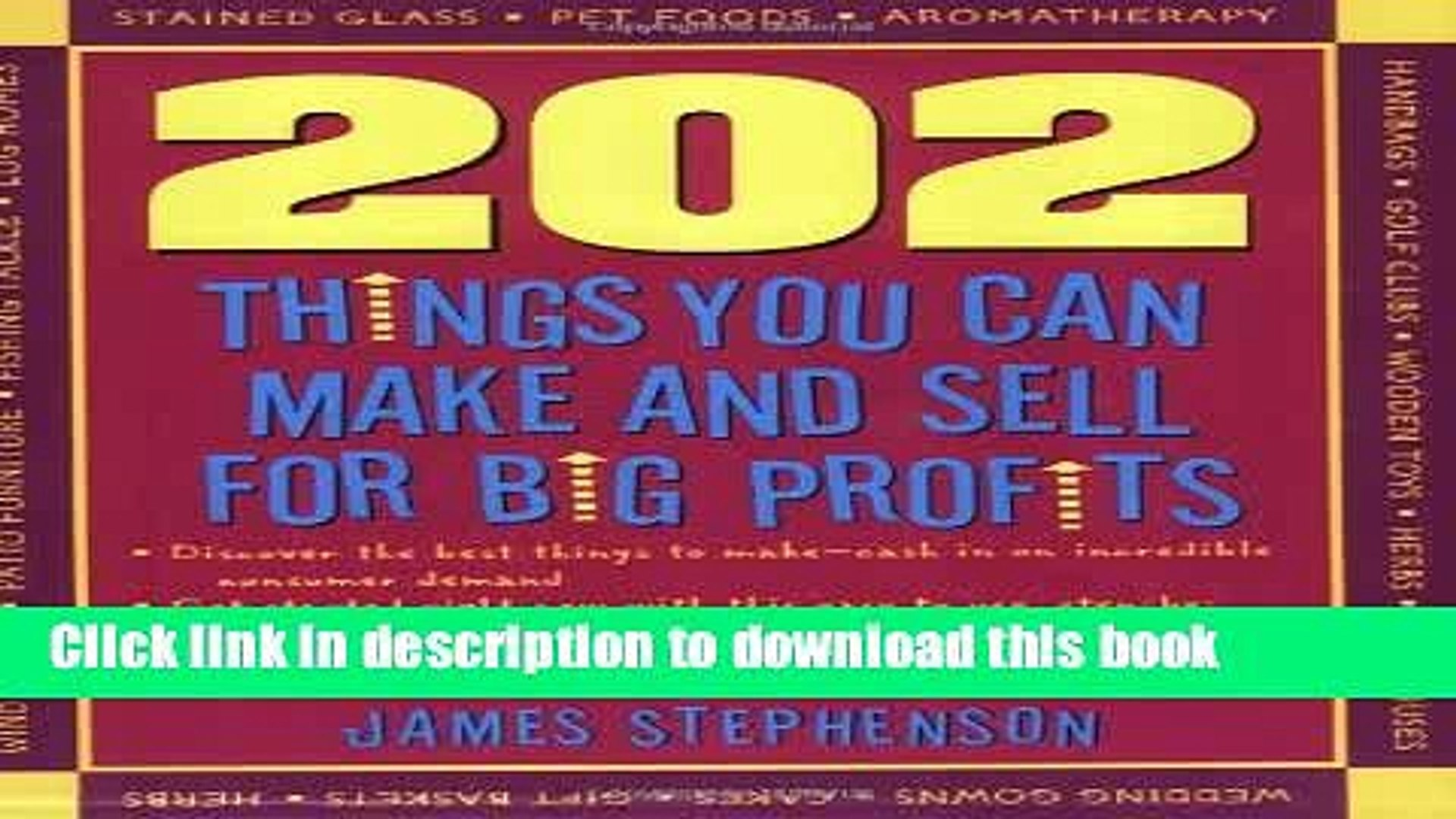 Read 202 Things You Can Make and Sell for Big Profits (202 Things You Can Make   Sell for Big