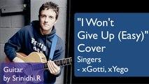 I won't give up (easy) cover - Jason Mraz - Guitar by Srinidhi.R