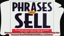 different   Phrases That Sell  The Ultimate Phrase Finder to Help You Promote Your Products Services