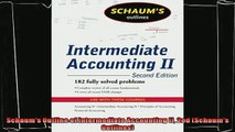 different   Schaums Outline of Intermediate Accounting II 2ed Schaums Outlines