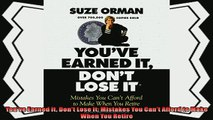 different   Youve Earned It Dont Lose It Mistakes You Cant Afford to Make When You Retire