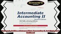 complete  Schaums Outline of Intermediate Accounting II 2ed Schaums Outlines
