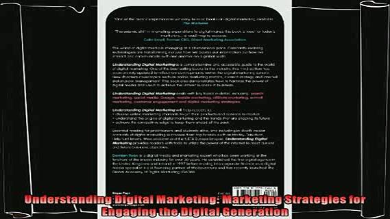 different   Understanding Digital Marketing Marketing Strategies for Engaging the Digital Generation