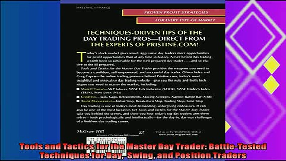different   Tools and Tactics for the Master Day Trader BattleTested Techniques for Day  Swing and