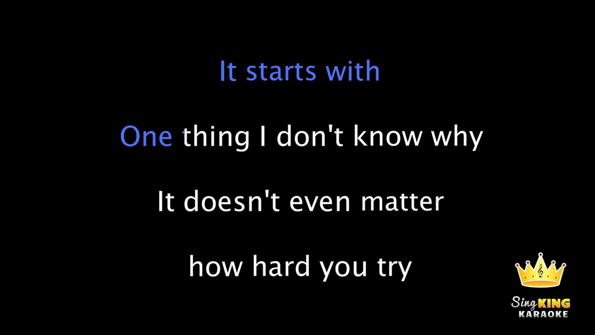 Linkin Park In The End Karaoke Instrumental