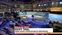 Egypt confirms death sentences in espionage case