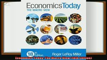 different   Economics Today The Macro View 18th Edition