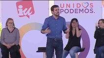 """Garzón ve """"incomprensible"""" que parte del PSOE quiera un gobierno de PP y Cs"""