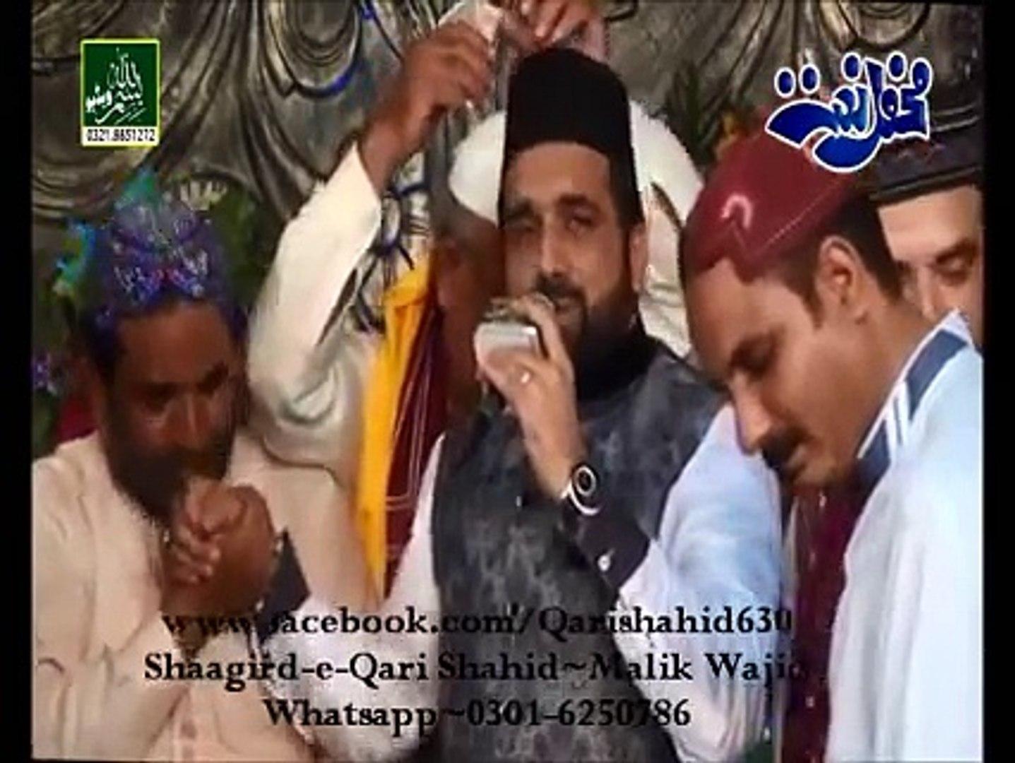 Qari Shahid Wajdani kefiyaat-Menu rang fukaar da chareyaa At LAHORE Mehfil  26-9-2015