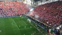 Les fans Hongrois à Marseille