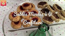 Sablés Moulés à la Confiture - Round Shortbread Cookies with Jam - حلوى الصابلي بالمربى