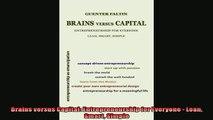 PDF Download Brains versus Capital: Entrepreneurship for