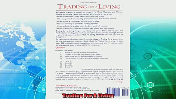 there is  Trading for a Living Psychology Trading Tactics Money Management