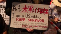 Thousands protest the U.S. military on Japanese island of Okinawa