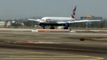 British Airways Boeing 772 landing rwy 26 at Ben Gurion airport-Israel
