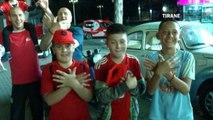 Ora News - E gjithë shqiptaria në festë pas fitores së kuqezinjve me Rumaninë