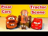 The Pixar Cars Movie Tractor Scene Re Enactment with Mater and Lightning McQueen and a LargeTractor