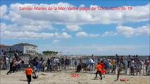 Saintes-Maries de la Mer-Un taureau s'échappe-Vache plage-fete votive-2016/06/19
