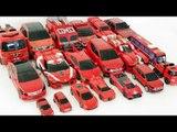 Red Color 19 Cars Transformers Carbot Tobot Robot Car Toys 빨간색 카봇 또봇 미니특공대 트랜스포머 19대 자동차 장난감 변신 동영상