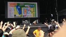 BABYMETAL 神バンドのサウンドチェックのようす 2014サマーソニック大阪