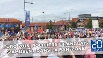 Euro 2016: Policiers et fans anglais s'amusent dans la fan-zone