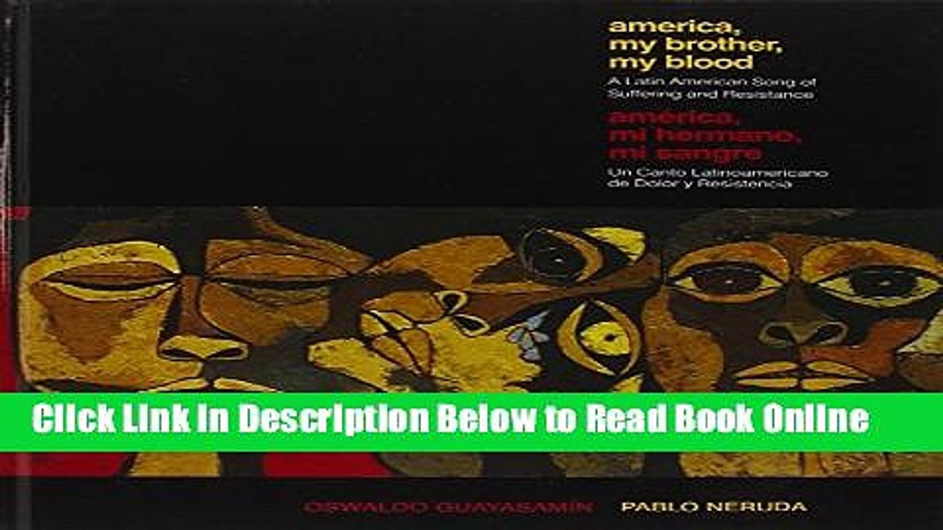 Read America My Brother, My Blood / America, Mi Hermano, Mi Sangre: A Latin American Song of