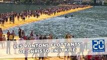 Les pontons flottants de Christo emballent les Italiens
