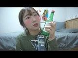 [메이크업 자장가]한국어 ASMR/숙취메이크업 해보기/イガリメイク ASMR/Japanese trend makeup tutorial/Binaural