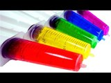 PLAY & Learn Syringe Clay Slime Rainbow Colors Learn Numbers