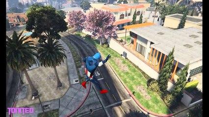 GTA 5  [P25] Mod GamePlay Captain America