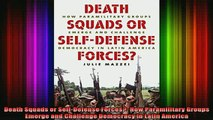 READ book  Death Squads or SelfDefense Forces How Paramilitary Groups Emerge and Challenge Full Free