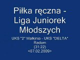 """Piłka ręczna - UKS """"2"""" Małkinia - UKS """"Delta"""" Radom (31:22)"""