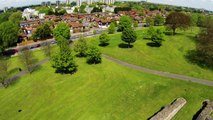 Lesnes Abbey at Abbey Wood (Flight test of DJI Phantom 2)