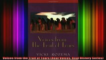 READ FREE FULL EBOOK DOWNLOAD  Voices from the Trail of Tears Real Voices Real History Series Full Ebook Online Free