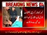 Karachi- Corps Commander Meets Abdul Sattar Edhi