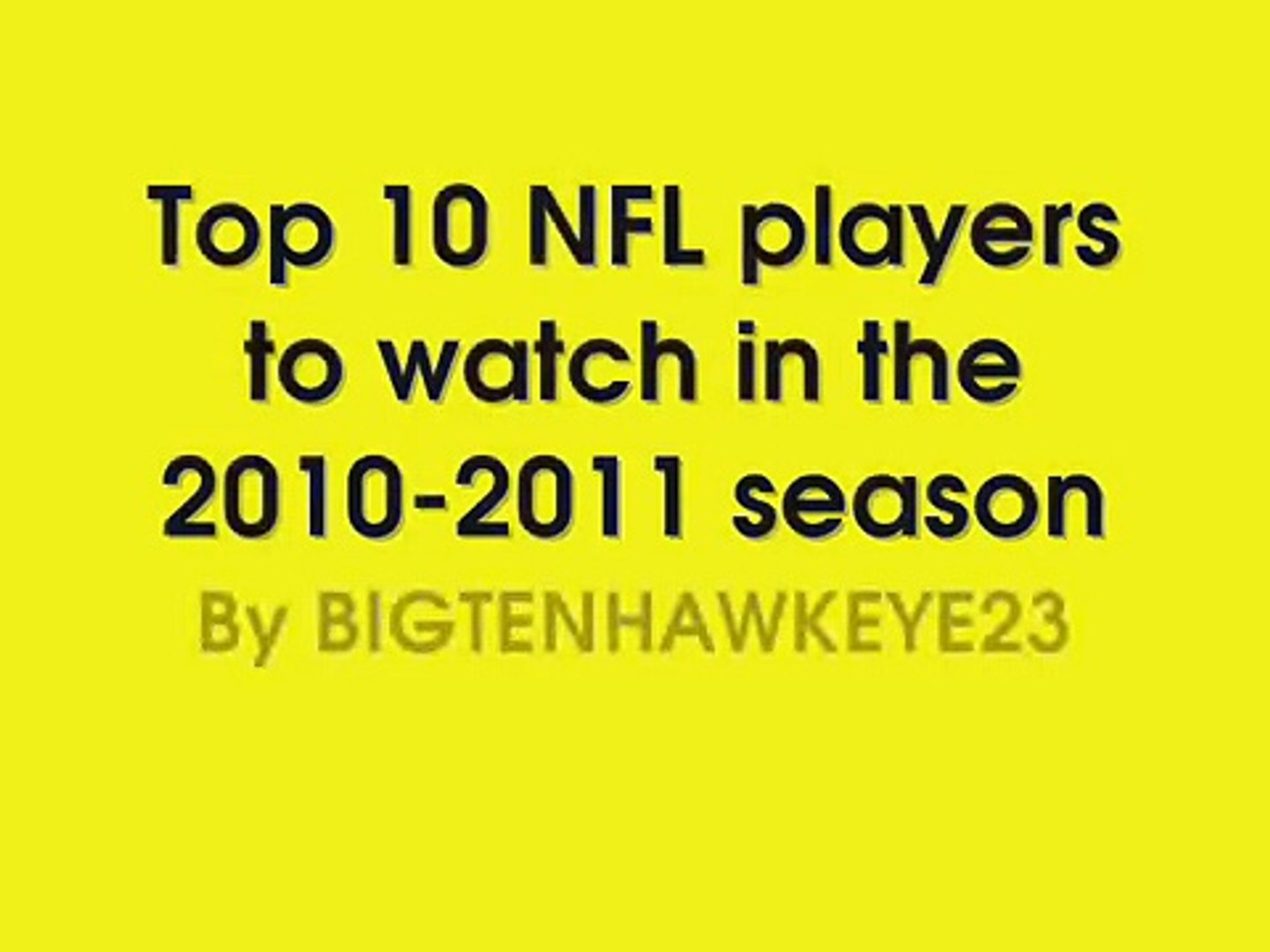 Top 10 NFL players to watch next year