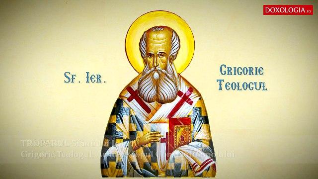 Troparul Sfântului Ierarh Grigorie Teologul, Arhiepiscopul Constantinopolului (25 ianuarie)