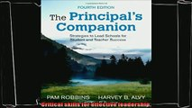 there is  The Principals Companion Strategies to Lead Schools for Student and Teacher Success