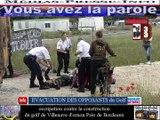 Bordeaux-Télévision-33 France Média les opposants du golf bloque le chantier à villenave d'ornon