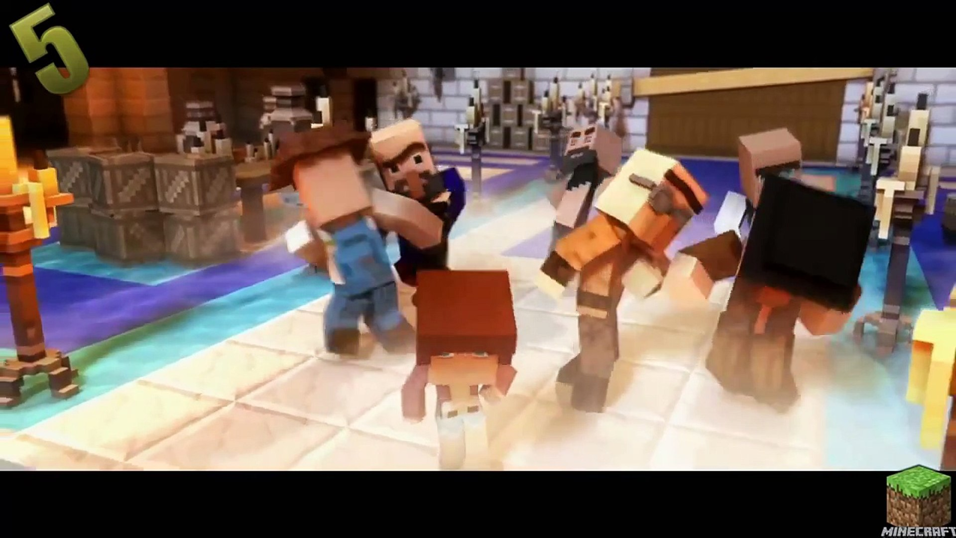 Top 5 Minecraft Song Parody Minecraft Songs Funny Animations Parodies(2015 2016 )